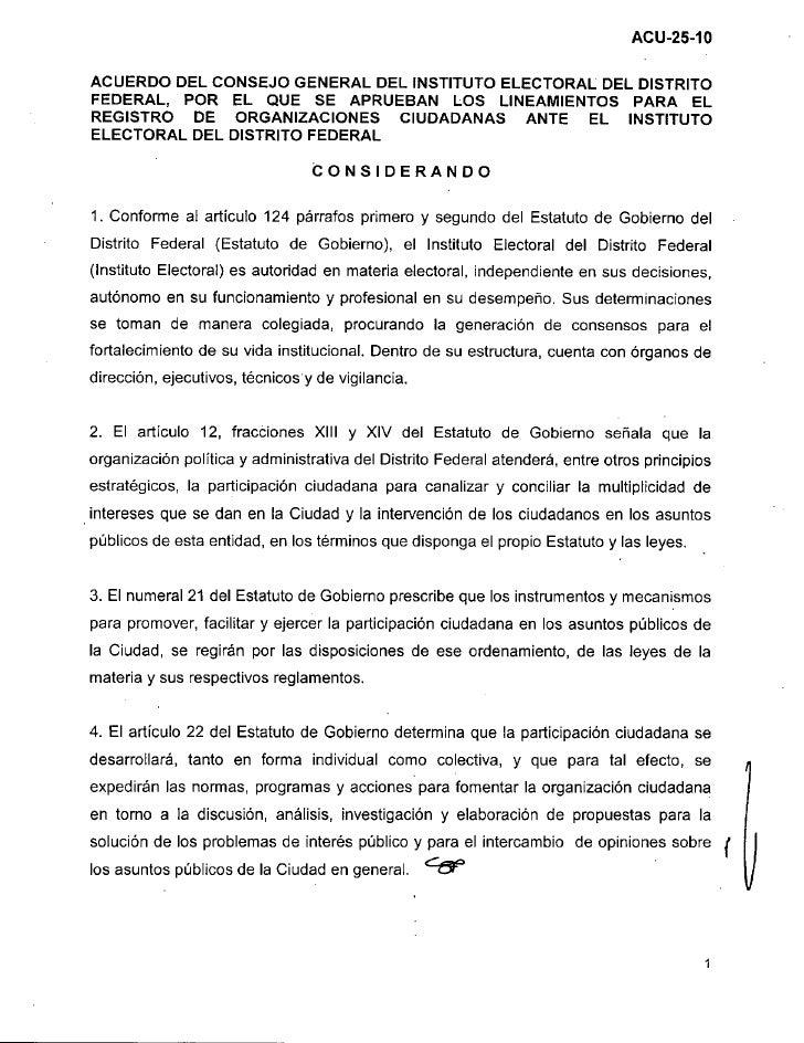 ACUERDO DEL CONSEJO GENERAL DEL INSTITUTO ELECTORAL DEL DISTRITOFEDERAL, POR EL QUE SE APRUEBAN LOS LINEAMIENTOS PARA E LR...
