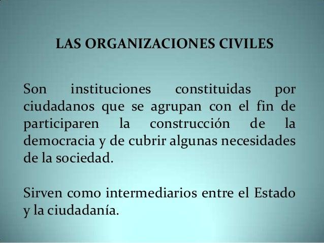 Organizaciones civiles Slide 2