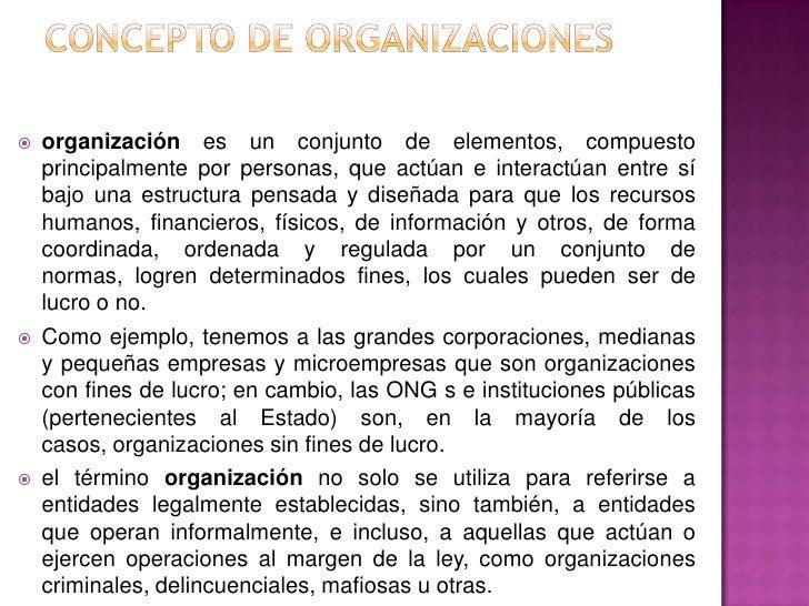 ORGANIZACIONES SOCIALES Slide 3