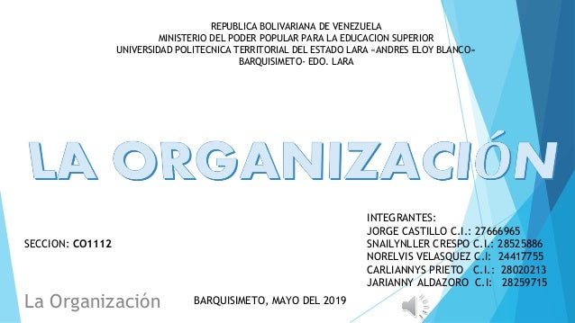 REPUBLICA BOLIVARIANA DE VENEZUELA MINISTERIO DEL PODER POPULAR PARA LA EDUCACION SUPERIOR UNIVERSIDAD POLITECNICA TERRITO...