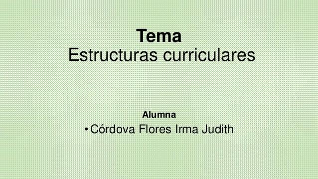 Estructuras Curriculares