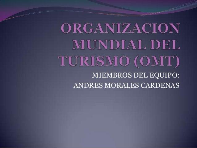 MIEMBROS DEL EQUIPO:ANDRES MORALES CARDENAS