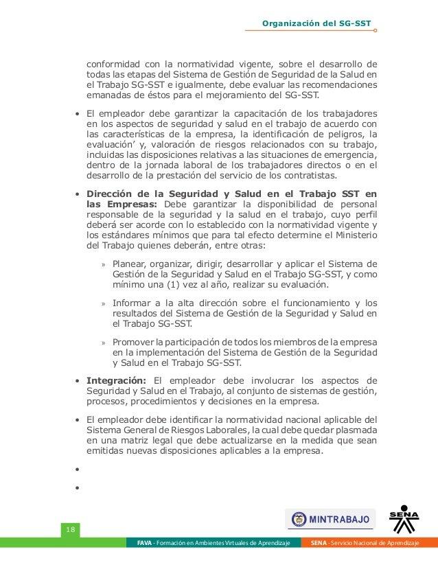 Organización Del Sistema De Gestión De La Seguridad Y Salud