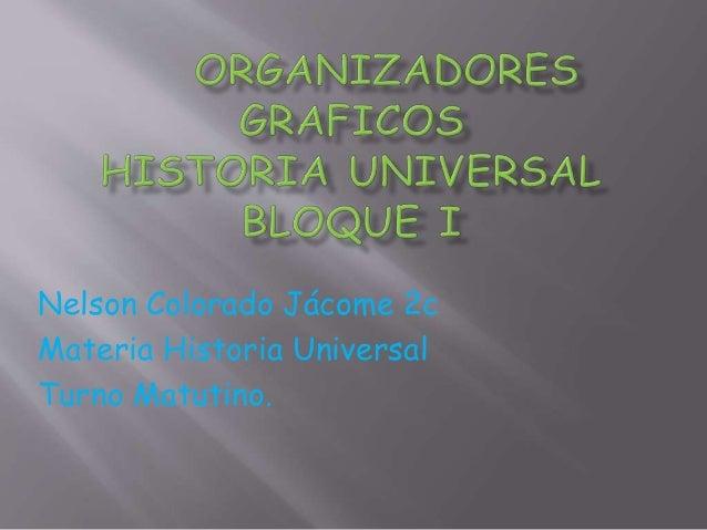 Nelson Colorado Jácome 2c Materia Historia Universal Turno Matutino.