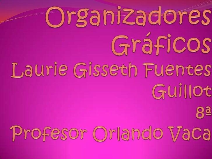 Organizadores GráficosLaurie Gisseth Fuentes Guillot8ªProfesor Orlando Vaca<br />