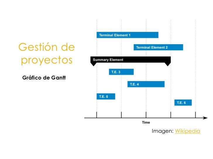 Gestión de proyectos<br />Gráfico de Gantt<br />Imagen: Wikipedia<br />