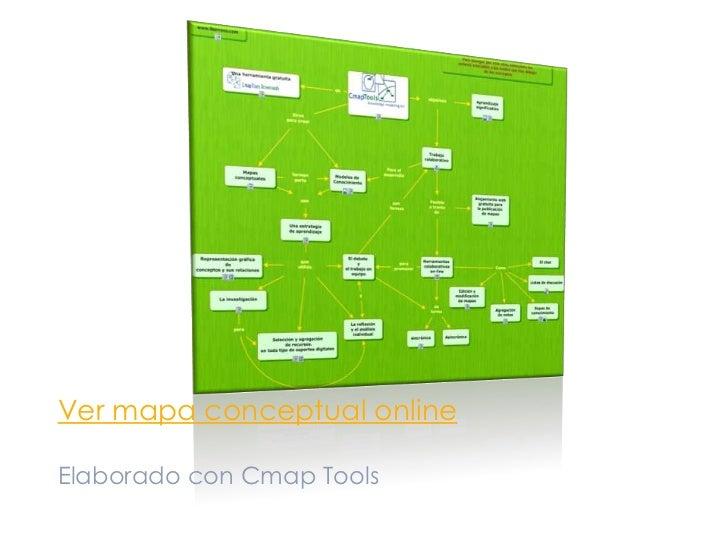 Cmap Tools<br />Aplicación para construir Mapas Conceptuales <br />