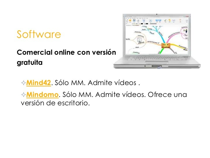 Software<br />Comercial con <br />instalación local<br /><ul><li>IMindMap. Tony Buzan