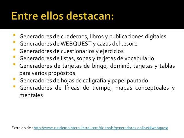  Generadores de letras, textos, cuentos y nubes de palabras  Generadores de textos en otros idiomas  Generadores de víd...