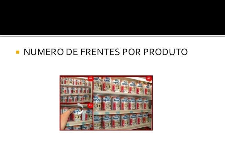    NUMERO DE FRENTES POR PRODUTO
