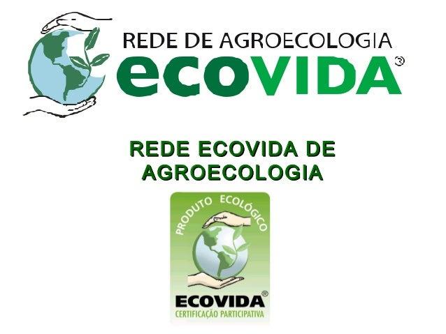 REDE ECOVIDA DEREDE ECOVIDA DEAGROECOLOGIAAGROECOLOGIA