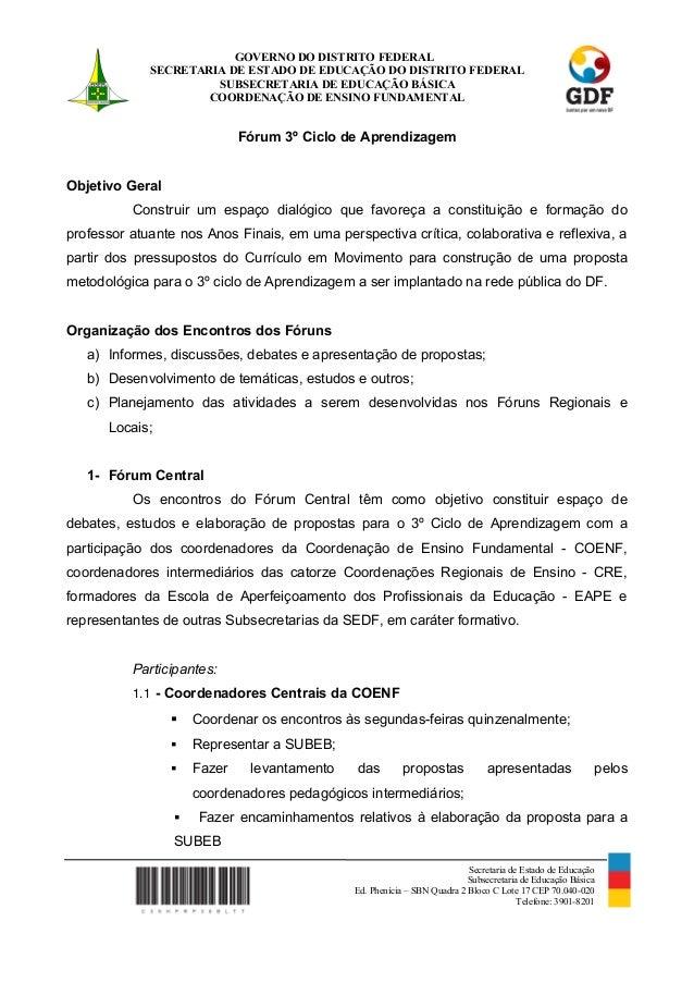 GOVERNO DO DISTRITO FEDERALSECRETARIA DE ESTADO DE EDUCAÇÃO DO DISTRITO FEDERALSUBSECRETARIA DE EDUCAÇÃO BÁSICACOORDENAÇÃO...