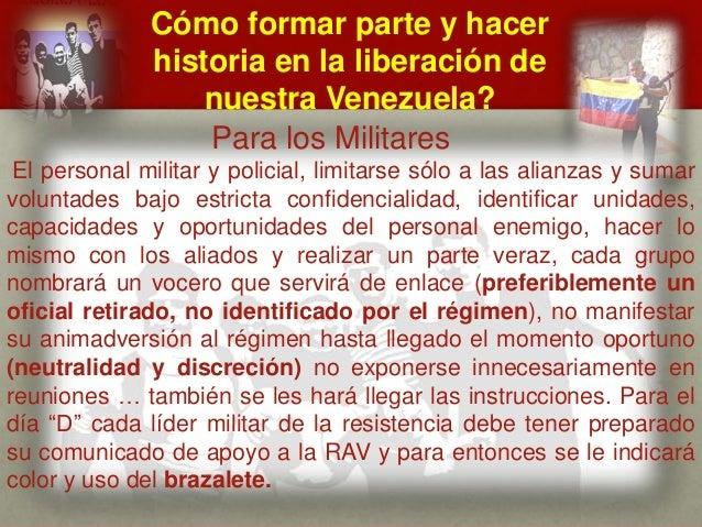 Cómo formar parte y hacer historia en la liberación de nuestra Venezuela? CUÁL ES EL MENSAJE DEL GENERAL VIVAS? Para los M...