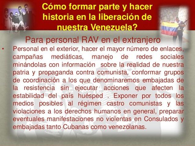 Cómo formar parte y hacer historia en la liberación de nuestra Venezuela? CUÁL ES EL MENSAJE DEL GENERAL VIVAS? Para perso...
