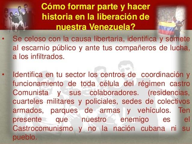 Cómo formar parte y hacer historia en la liberación de nuestra Venezuela? CUÁL ES EL MENSAJE DEL GENERAL VIVAS? • Se celos...