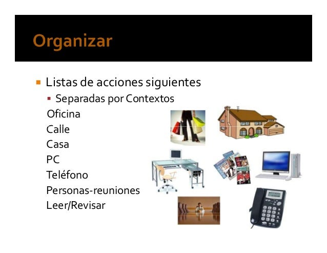 Listas de control Afirmaciones personales Listas de control de viajes Revisión semanal Áreas de atención y responsabilidad...