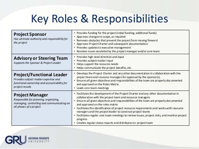 3. Key Roles U0026 Responsibilities ...