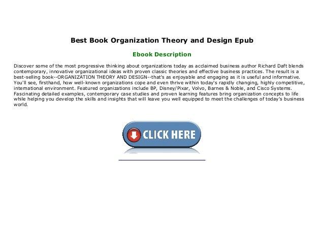 Best Book Organization Theory And Design Epub