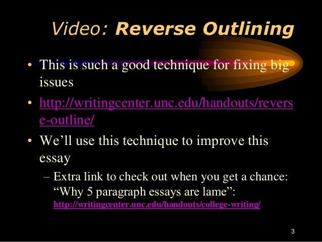 reverse outline