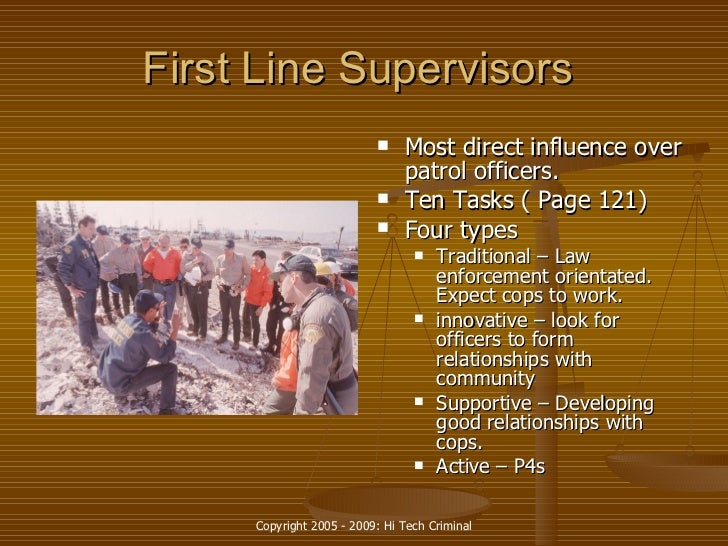 expectations of first line supervisor in law enforcement November 20, 2017 leadership culture, expectations, law enforcement, leadership, police,  then neither can your officers or first-line supervisors.