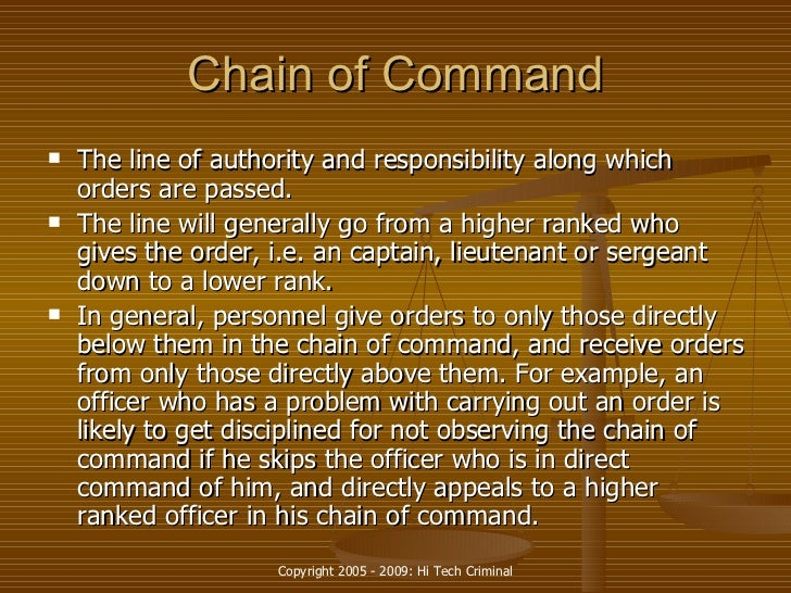 chain of command letter example