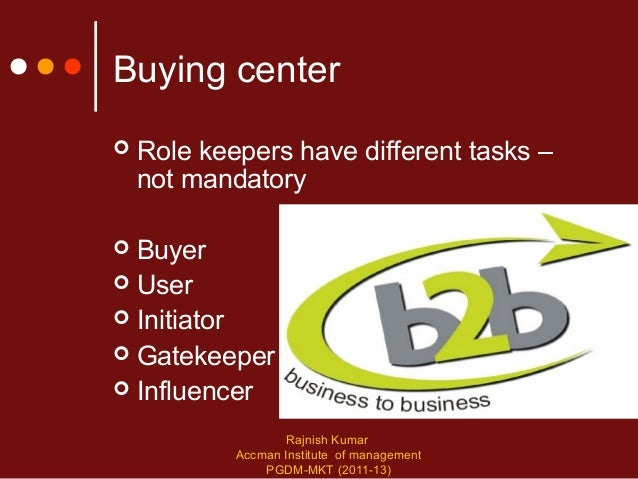 industrial buying behavior International industrial marketing lecture notes on  buying organisation,  three groups of factors influence industrial buying process, (1).
