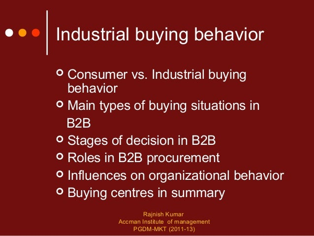 characteristics of industrial buying behaviour