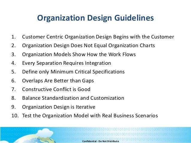 organizational design and trends in marketing organizations