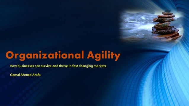 Organizational AgilityHow businesses can survive and thrive in fast changing marketsGamal Ahmed Arafa