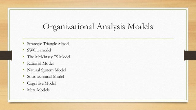 organization ananlysis Swot organizational analysis is a strategic planning process that enables companies and other organizations to focus on their own strengths and weaknesses, as well as the opportunities and threats in their environment.