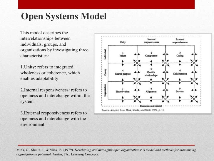 internal external environment open systems theory Define open systems and describe the internal, competitive define open systems and describe the internal, competitive, and macro environments of an organization identify the role of internal and external environmental factors in business format and features.