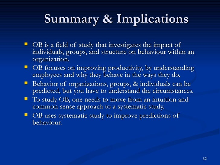 historical background of organizational behavior essays Organizational behavior (ob) or organisational behaviour is the study of human behavior in organizational settings history edit this section does.