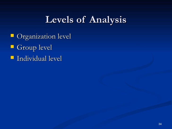 organizational behavior individual analysis Buy exclusive organizational behavior analysis essay cheap order organizational behavior analysis essay from $1299 per page on the individual level, organizational behavior analyses perceptions, learning, creativity, motivation, personality.