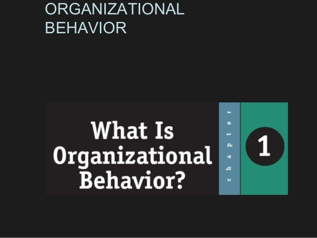 ORGANIZATIONALBEHAVIOR