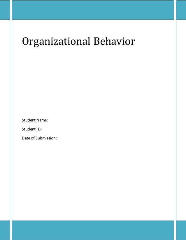 organizational behavior all in a All these, and then some, are forces at work in a family one textbook that i have  used in teaching the core topics of organizational behavior is.