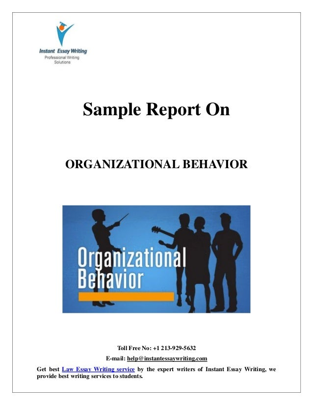 sample report on organizational behavior by expert writers of instan   instant essay writing toll no 1 213 929 5632 e mail help