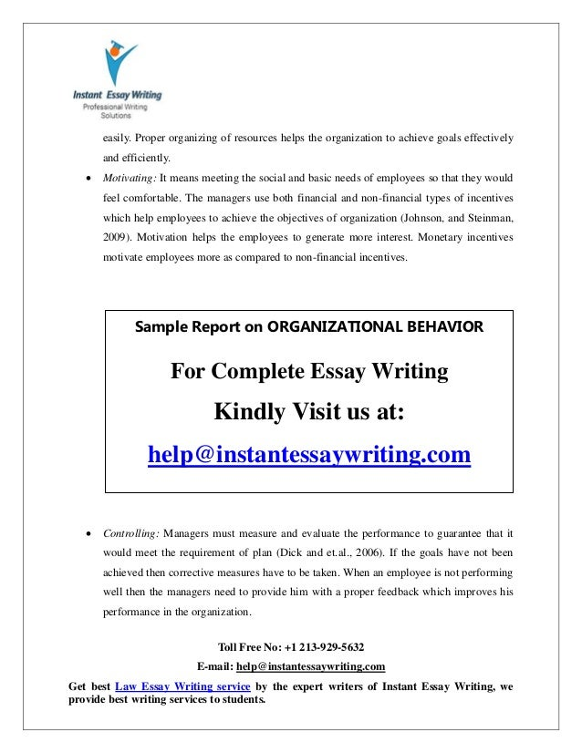 Reflective Essay Sample Paper Essay Organization Types Sample Report On Organizational Behavior By  Expert Writers Of Instan  Causes And Effects Of Pollution Essay also Essay About Economic Crisis Essay Organization Types  Barcafontanacountryinncom How To Change A Quote In An Essay