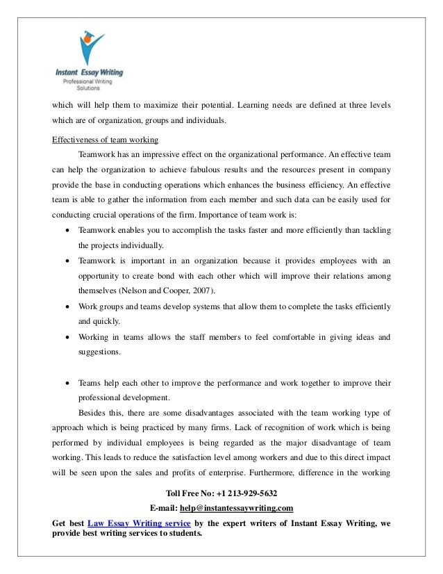 organisation and activities to develop team essay Keeping the right people  people responsibilities include activities such as: developing work team and individual employee skills and capabilities  are provided .