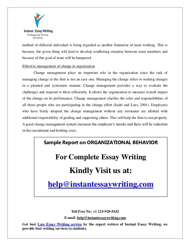organizational behavior 16 essay By the following professionally written tutorial you'll learn how to choose a strong topic for your organizational behavior research paper.
