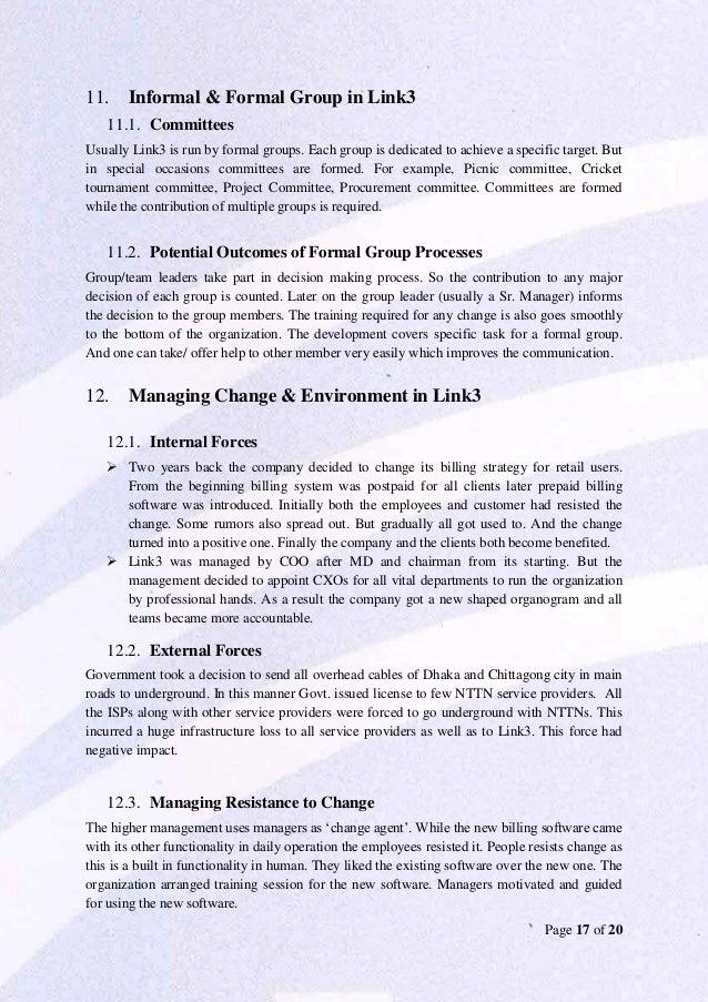 short case study on change management
