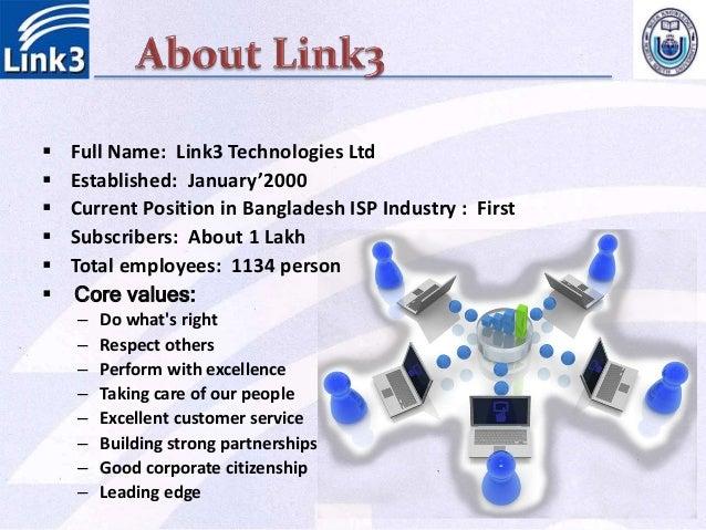 Organizational behavioral practices in link3 technologies ltd