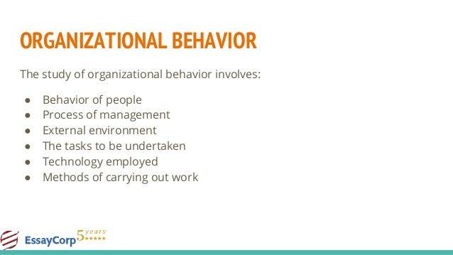 topics related to organizational behavior