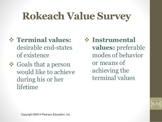 rokeach value survey Validation studies to date have sought to demonstrate that two items in the  rokeach value survey, 'equality (brotherhood, equal opportunity.