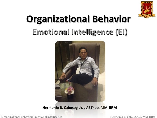 """organisational behaviour cognitive emotional intelligence Research indicates a strong correlation between emotional intelligence and individual job performance  research demonstrates that emotional intelligence is a better predictor of """"success"""" than traditional measures of cognitive intelligence (iq."""