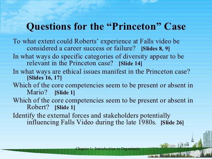 a case summary of robert princeton at falls video Bob regularly teaches the economic analysis of law, and he has taught a  law  can end the poverty of nations (princeton up, 2012, with hans bernd schäfer.