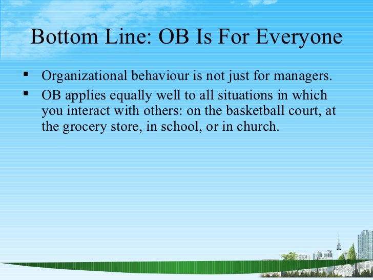 Ob summary individual behaviour motivation leadership