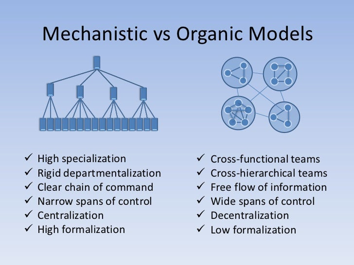 Organic vs Mechanistic Structures
