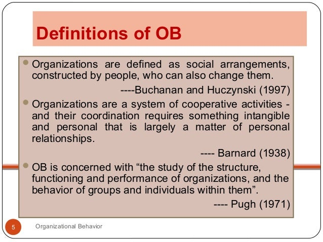 organizational behaviour  organizational behavior 5