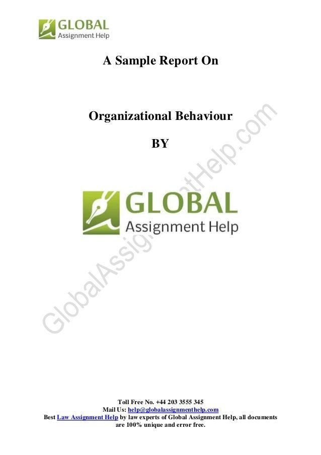 Sample Document on Organization Behavior