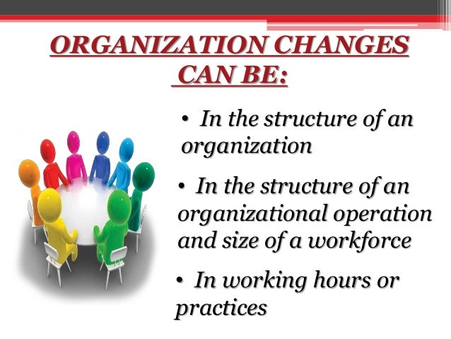 organzational change The first involves the entire organization from the start, with the whole organization intensively working at once on making the change ford motor company is currently restructuring its entire organization, moving from planning to implementation in nine months.